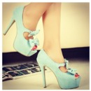 Cute teal high heel!
