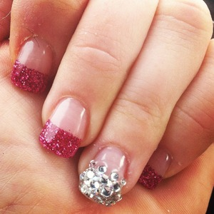 Newest trend is glitter gel nails and bling nail art ! Hot for spring 2013!