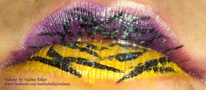 zebra print lips
