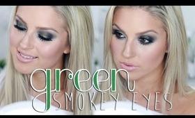 Olive Green Smokey Eyes ♡ GRWM Shaaanxo