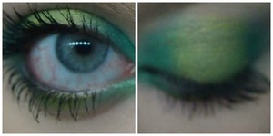 Sorry its so late! But this is my St. Patrick's Day makeup. I had so much fun making this look!