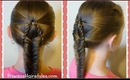 """Suspended Fishtail"" Braided Hairstyle Tutorial For Medium Hair, Long Hair"