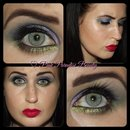 Maleficent Inspored Makeup Look