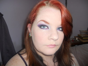 I loveee purple. :) I also love strong eyebrows.