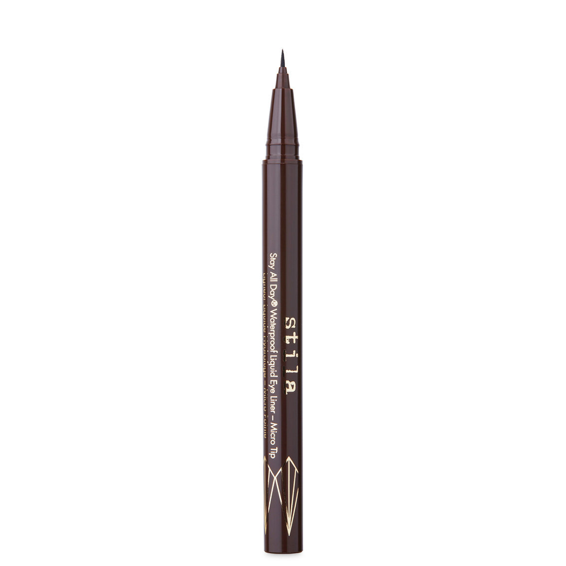Stila Stay All Day Waterproof Liquid Liner Micro Tip Dark Brown alternative view 1 - product swatch.