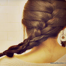 How To French Braid Over Braid - On Your Own Hair Tutorial