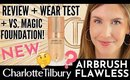 NEW! Charlotte Tilbury Airbrush Flawless Foundation Review & Wear Test