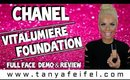 Chanel | Vitalumiere Foundation | Full Face Demo & Review | Tanya Feifel-Rhodes