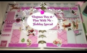 VLOGMAS * Day 16 Plan With Me - Holiday Spread