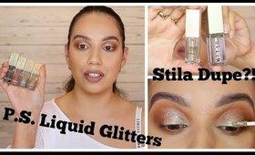 P.S. Liquid Glitters (Penneys/Primark) Vs Stila & Pixi | ChristineMUA