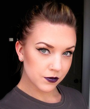 Inspired by Meredith Jessica (http://www.pigmentsandpalettes.com/) and Viola H. (http://www.beautylish.com/KillerColours) to use dark lips with neutral eyes!