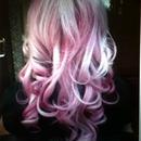 dip dye pink