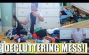 Clean With Me! | Decluttering the Closet!