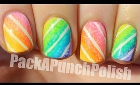 Gradient Candy Stripes Nail Art Tutorial
