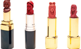 So Cool! This Hong Kong–Based Artist Makes Sculptures Out of Lipstick.