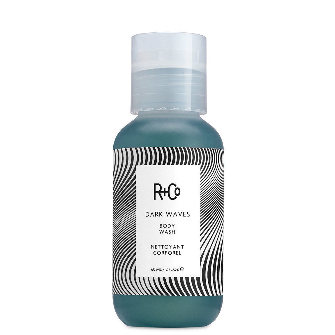R+Co Dark Waves Body Wash product swatch.