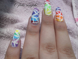 More manicures on the blog -> http://o-fata-simpla.blogspot.ro/2013/07/challenge-25-rainbow-nails.html