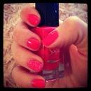 pink and caviar nails