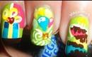 2013 Birthday Party Nail Art!/ Diseño de uñas para cumpleaños