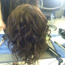 Curled manicans hair!