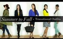 5 Summer to Fall Transitional Outfits Lookbook by Anneorshine