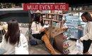 What's New At  MUJI Atrium | Reopening Event VLOG ◌ alishainc