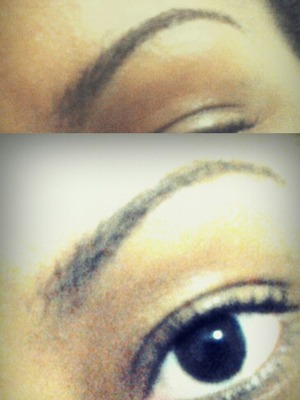 Got my eyebrows done at college :)