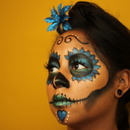 Sugar Skull Simple Blue 2