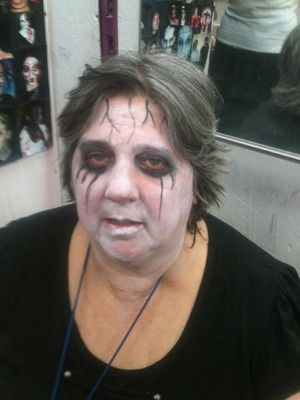 Done Halloween Night. Special thanks to one of the Employees for letting me do their makeup.