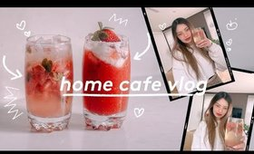 Home Cafe Vlog ✨Aesthetic Korean Cafe Inspired Tea Latte Drinks