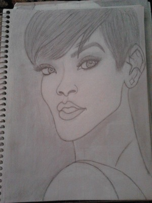 This was something I did a while ago. Does this look like Rihanna?