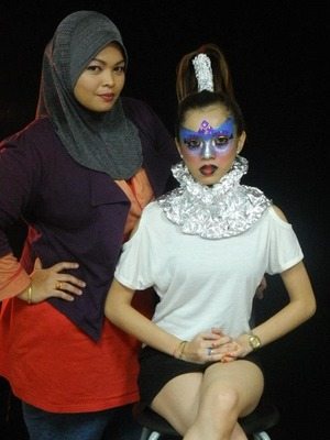 Hadia Timefaces & my model,Mira giving our pose 'Just Simply Us'  for that day photo shoot.