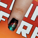 """The Girl Who Was on Fire"" nail art"