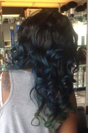 Mermaid  Hair color by Christy Farabaugh