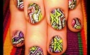 "from the NAIL WIZARDS basement: a ""SAVED BY THE BELL"" robin moses nail art tutorial"