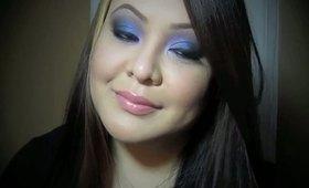 Tutorial: Midnight Blue and Purple Eye Makeup