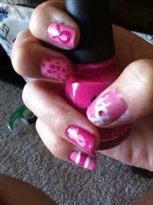 fingernails for breast cancer awareness month