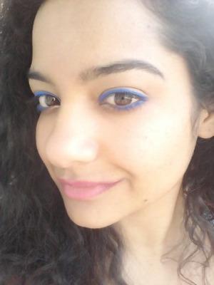 "Rimmel scandal eyes ""bright blue"" kohl. I love it!"