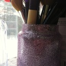 glittery brush holder!