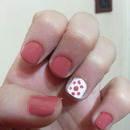 Pink & White Dotted Nail Art