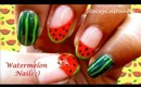 Fruity fun:- Watermelon nails | Tutorial