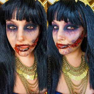 Tutorial for zombie cleopatra on my Youtube! YouTube.com/TheBeautyBox1211