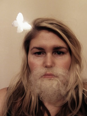 man with long hair or women with beard you decide?