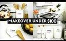 ROOM MAKEOVER UNDER $100   SIMPLE & MINIMAL KITCHEN TOUR 2017