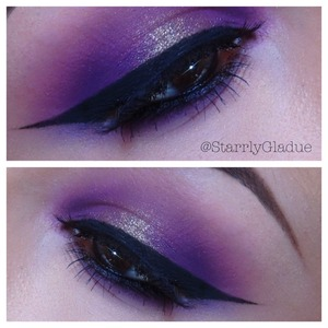 Products used: Sugarpill 'poison plum' eyeshadow, with MAC 'damson' pressed pigment in the center. Almay black liquid liner, with MAC 'feline' pencil liner in the waterline.  Facebook: Makeup by Starrly Instagram & Twitter: @StarrlyGladue