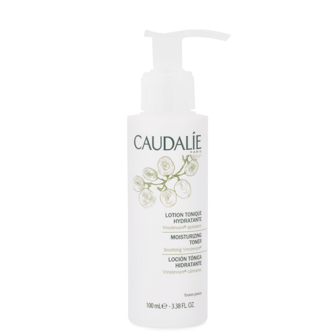 Caudalie Moisturizing Toning Lotion 100 ml alternative view 1 - product swatch.