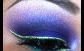 Dark Purple with Green liner Tutorial!