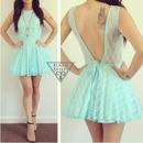 Lace Tutu Backless Dress