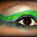 Green Snake Inspired makeup