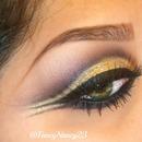 Arabic Gold Cut Crease for Green Eyes